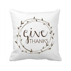 Give Thanks pillow cover Thanksgiving Pillow best gift for mom - Quote - Pillow Cover - Create