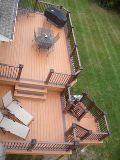 Azek Decking - Plymouth MN - traditional - deck - minneapolis - Craftsman's Choice Inc. Backyard Deck Designs, Landscaping Design, Large Backyard Landscaping, Backyard Patio, Patio Design, Pool And Deck Ideas, Patio Ideas, Pool Decks, Backyard Ideas