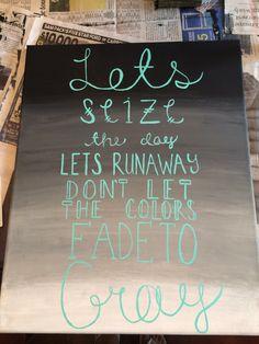 5sos lyrics on canvas. (Never Be) made by @destinyrgarza and @haleywisdom