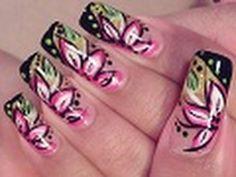Bright Flower Nail Art Design Tutorial