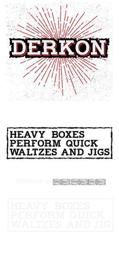 Derkon Free Typeface by Sztuchlak Gergő, via Behance