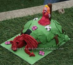Coolest Dragon and Princess Birthday Cake... This website is the Pinterest of birthday cake ideas
