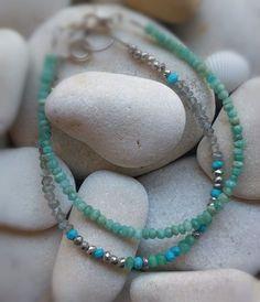 Bratara turcoaz si argint, mix de pietre Turquoise Necklace, Bracelets, Handmade, Color, Jewelry, Hand Made, Jewlery, Jewerly, Colour