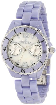 Invicta Womens 0435 Periwinkle Ceramic Ocean Diver Mother-Of-Pearl Watch