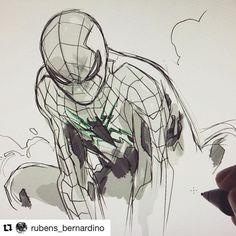 #sketchbook #sketch #illustrationartists #illustrationgram #spidey #spiderman #wooolikes #wooomic @rubens_bernardino