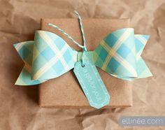 DIY Plaid Paper Bow