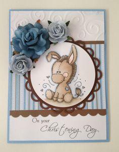 Christening Card for Boy by EmbellishedHandmade on Etsy, $5.50