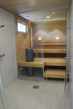 Kylpytilat - Pohjolan Kiinteistörakenne Sauna Steam Room, Sauna Room, Modern Bathroom Decor, Bathroom Spa, Basement Sauna, Modern Saunas, Sauna House, Portable Sauna, Gym Room At Home