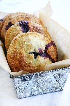 Blueberry, basil, & goat cheese hand pies