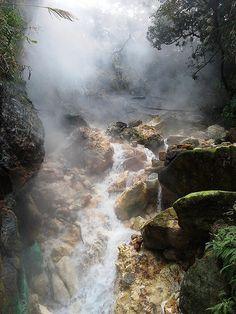 Bayan Wild Hot Springs Steaming Hot