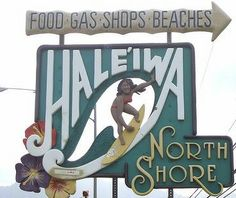 Haleiwa (huh-lei-ee-va) is located at the beginning of the North Shore on the island of Oahu. It's famous for it's local favorites like Matsumoto's Shaved Ice and The Bakery. There are also great restaurants like Jameson's By the Sea and Haleiwa Joe's.