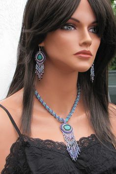 Hey, I found this really awesome Etsy listing at https://www.etsy.com/listing/179601859/ooak-turquoise-bead-embroidered-necklace