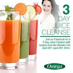 Join me and @Omega Hedgepeth Appliances for a 3 Day Juice Cleanse with Karen Kipp from Power Your Journey.