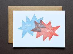 You !!! Me ~ Letterpress Card