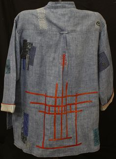 Stitch detail jacket   Repair   160 - Something Old, Something Blue, Beres Senden