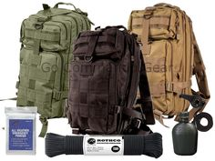 Outdoorsman Pack Bundle - Heavy Duty Transport Bag And Military Survival Gear #Rothco