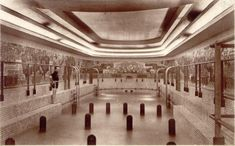 SS Normandie's 1st Class swimming pool