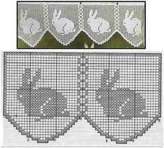 Кроликов много не бывает - Ярмарка Мастеров - ручная работа, handmade Crochet Cat Pattern, Crochet Borders, Crochet Cross, Thread Crochet, Crochet Stitches, Crochet Patterns, Holiday Crochet, Easter Crochet, Crochet Bunny