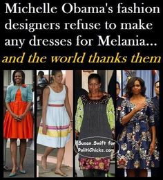A good thing, as they made Moochelle look like a shambling troglodyte at least half the time. The other half, she managed to do that all by herself.