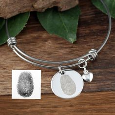 Lovable Keepsake Gifts, a trusted online store for personalized jewelry. Get the perfect gift for your loved ones! Fingerprint Jewelry, Engraved Bracelet, Gifts For Your Mom, Memorial Gifts, Meaningful Gifts, Personalized Jewelry, Sterling Silver Necklaces, Bangle Bracelets, Vintage Jewelry
