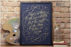 """""""i know nothing with any certainty, but the sight of the stars makes me dream."""" print by seb lester."""