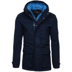 Elegantný pánsky kabát tmavo modrej farby - fashionday.eu Raincoat, Nike, Jackets, Fashion, Rain Jacket, Down Jackets, Moda, Fashion Styles