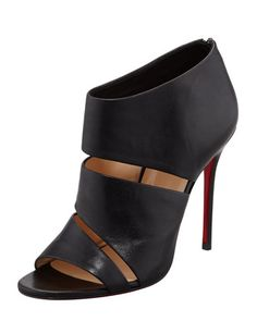 Wednesday, December 19th: Christian Louboutin Cachottiere Cutout Red Sole Bootie, 212 872 8940
