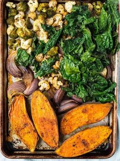 Whole30 Vegetarian Power Bowl. Roasted sweet potato, broccoli, cauliflower, kale, and red onion make this a veggie-packed meal! Easily adaptable Whole30 vegetable recipe that's low carb, filling, and Paleo!