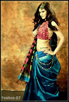 Blue Matka Silk Jamdani.....to die for!!
