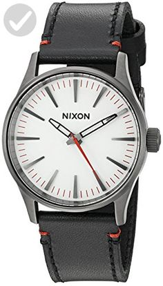 Nixon Men's 'Sentry 38' Quartz Stainless Steel and Leather Watch, Color:Black (Model: A377-486-00) - Mens world (*Amazon Partner-Link)