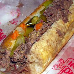 Close to Ruths recipe Season's Crock Pot Chicago Italian Beef Sandwiches Recipe Crock Pot Food, Crockpot Dishes, Beef Dishes, Italian Beef Sandwiches Chicago, Chicago Beef Sandwich, Chicago Italian Beef, Italian Sandwiches, Slow Cooker Recipes, Crockpot Recipes