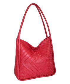 Red Bailey Leather Hobo #zulily #zulilyfinds