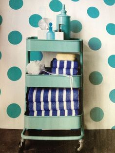 It's totally practical in the bathroom. | This Kitchen Cart Is The Only IKEA Item You Really Need