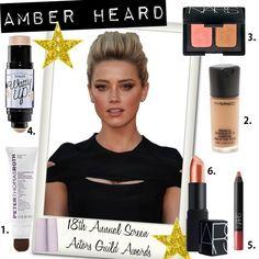 Amber Heard's Makeup Prom Makeup, Hair Makeup, Amber Heard Makeup, Beauty Makeup, Hair Beauty, Celebrity Makeup, Get The Look, Face And Body, Muse