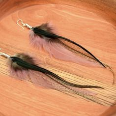 Boucles d'oreilles plumes chumani  - ethnic feather -