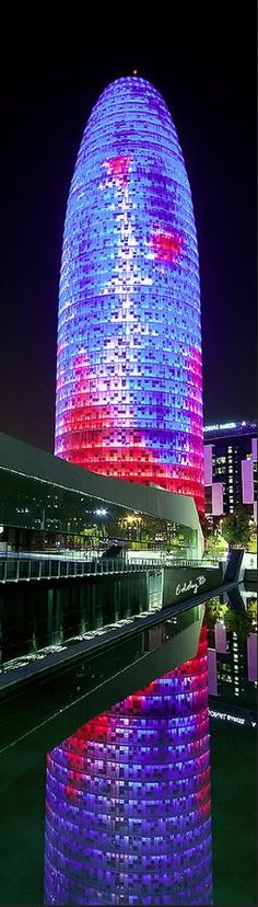 Agbar tower, 145m, 2005, Barcelona, Spain                                                                                                                                                                                 More