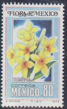 Sello: Mexican Flora - Plumeria rubra (México) (Commemorative Stamps) Mi:MX 1610,Sn:MX 1164