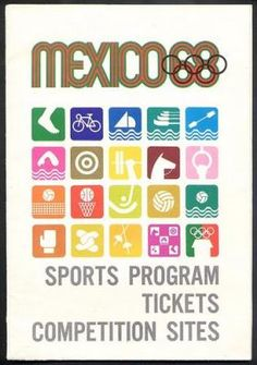 Olympic Games Pictograms 1968 Mexico City