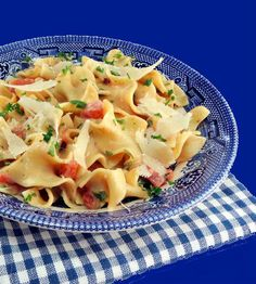 Chicken and Noodles with Parmesan and Tomato Cream Sauce
