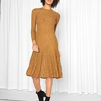 Textured Glitter Knit Dress | Endource