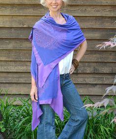 Look at this #zulilyfind! Blue & Purple Three-in-One Shawl #zulilyfinds
