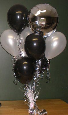 1000 images about black and white party on pinterest - Black silver and white party decorations ...