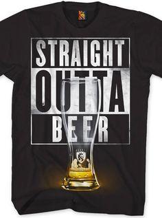 """Men's """"Outta Beer"""" Tee by OG Abel (Black) - www.inkedshop.com#inked #inkedmag #Inkedguys #outtabeer #blacktee #OGabel #Straightouttabeer"""