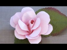 Rose Bud tutorial. Paper flowers - YouTube
