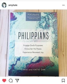 My sweet friend @amyhale is hosting a Philippians giveaway!  Check out the deets on her Instagram profile!!!