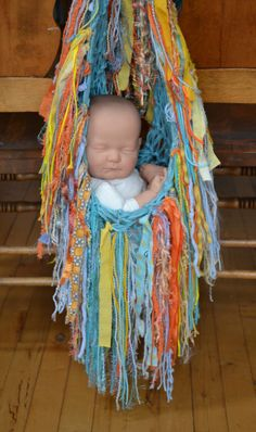Hanging Baby PHoTO PROP FRiNGe BLaNKeT Knit by MadAboutColour