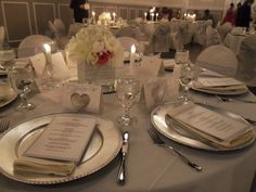 One of our bride's Table Setting