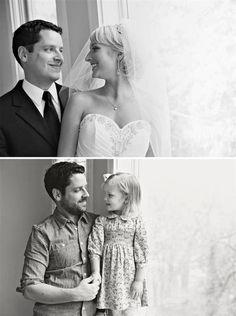 """Pai e filha recriam fotos do casamento para dizer """"adeus"""" a esposa e mãe"""