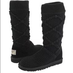 d83cd1b880e UGG Classic Argyle Knit Boots  fashion  clothing  shoes  accessories   womensshoes