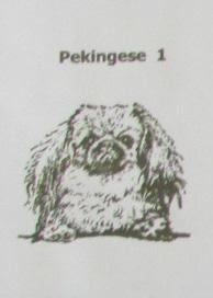 Custom Handmade Pekingese Dog Natural Stone Coasters
